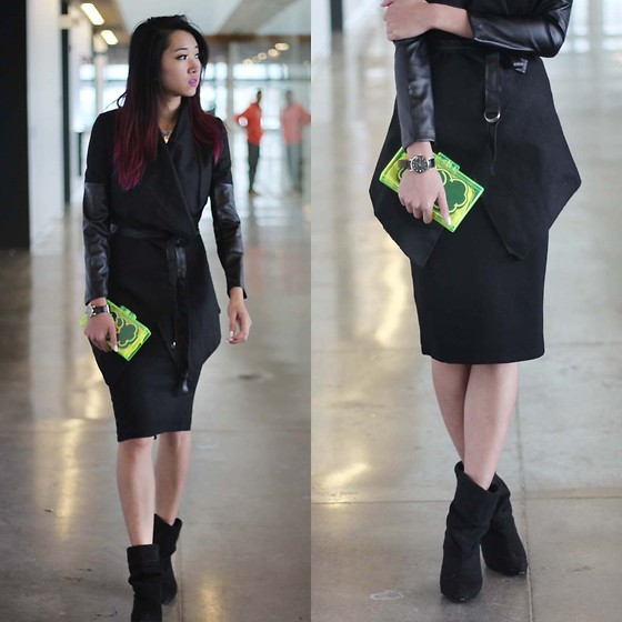 Jeannie Y - Style Moi Coat, Zara Clutch, Marc By Jacobs Watch, H&M Pencil Skirt - Suited