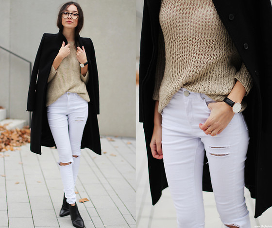 Bea G - Coat, Sweater, Jeans, Shoes, Watch - Clean Lines