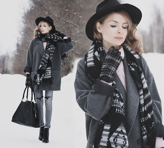 Tini Tani - Oasap Hat, Be Free Scarves, Befree Bag, Befree Jeans - Gray
