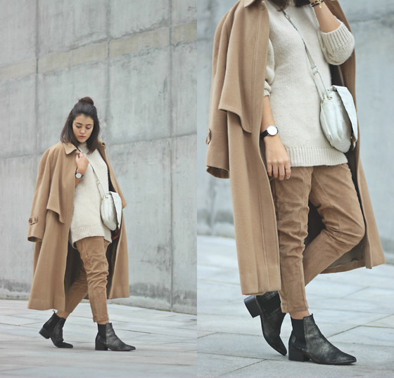 Maria Galvão de Sousa - Vintage Coat, Zara Sweater, Zara Pants, Stradivarius Boots, Daniel Wellington Watch - THE VIEW FROM THE AFTERNOON