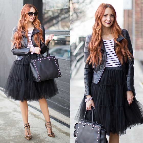 Jackie Welling - Lucy & Lyla Studded Bag, Chic Wish Tulle Skirt - Edgy Tulle