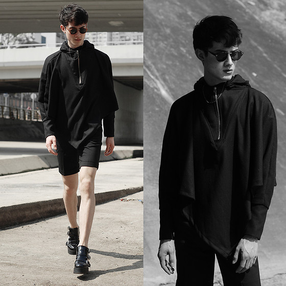 Nigel Lew - Uniqlo Shorts, Upper Mansion Boots, Pyrrha Necklace - Shrouded in Mystery