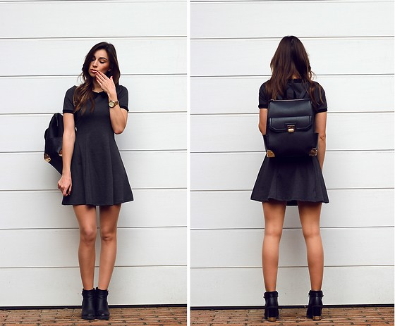 Betty K - H&M Dress, New Look Bacpack, F&F Boots - DARKER