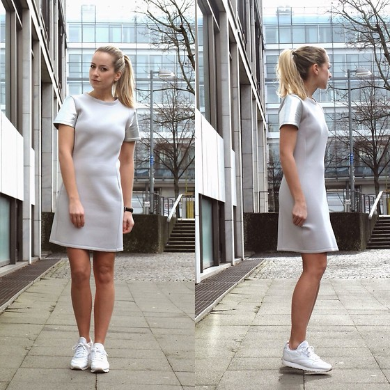 Miriam Mache - Ivyrevel Dress, Reebok Sneaker - Silver Statement