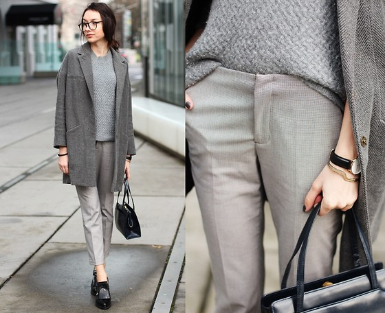 Bea G - Coat, Trousers, Sweater, Shoes, Bag - Grey Hues