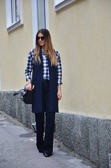 Jovana Radojicic - H&M Sunglasses, Abaday Shirt, Zara Waistcoat - WAISTCOAT AND FLARED JEANS