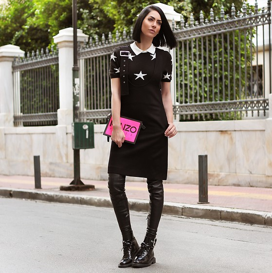 Konstantina Tzagaraki - Suspenders, Kenzo Bag, Booties - You don't have any control over anyone's feelings..