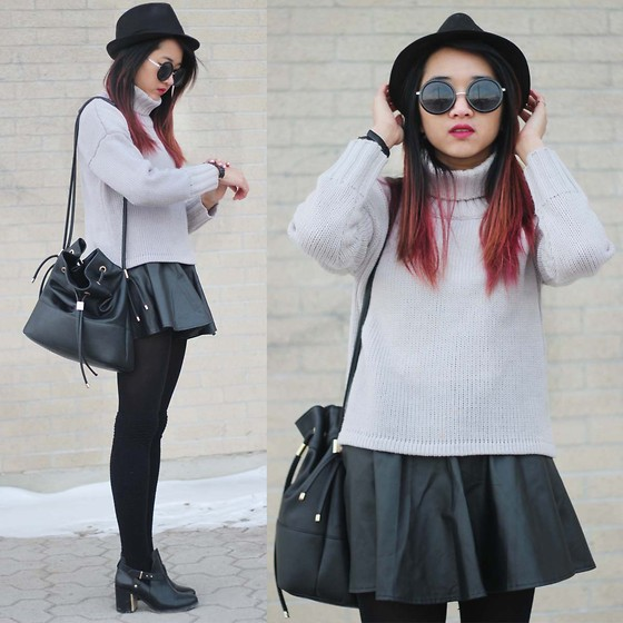 Jeannie Y - Style Moi Chunky Sweater, Zara Bucket Bag, Topshop Booties - Close Knit
