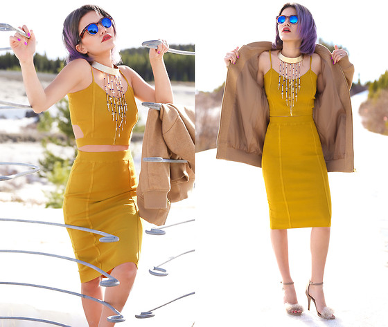 Alanna Durkovich - Pylo Mustard Set, Zerouv Sunnies - Mustard in March