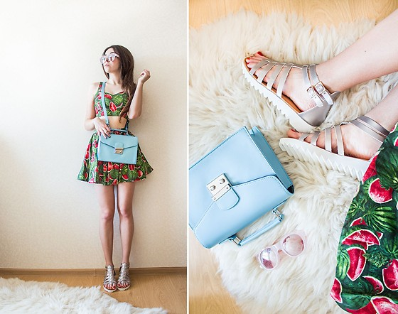 Viktoria Vasilenko - Asos Bag, Asos Sandals - Watermelon cocktail