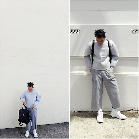 Karl Philip Leuterio - H&M Neoprene Sweater, Cava Bags Backpack, Jeanasis Culottes, Converse Rubber Chucks - Sydney