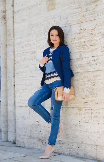 Cristina Feather - Marks&Spencer Jacket, Marks&Spencer Sweater, Marks&Spencer Jeans, Il Passo Shoes - I believe in denim