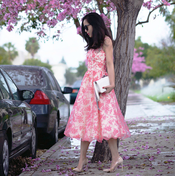 Hallie S. - Chanel Bag, Gianvito Rossi Shoes - Spring Flowers