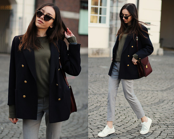 Bea G - Blazer, Sweater, Trousers, Sneakers, Bag - Comfy Chic