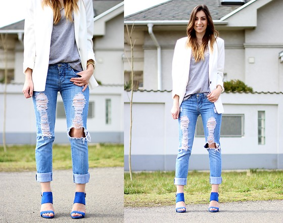 Betty K - Primark Heels, Bershka Blazer - DISTRESSED