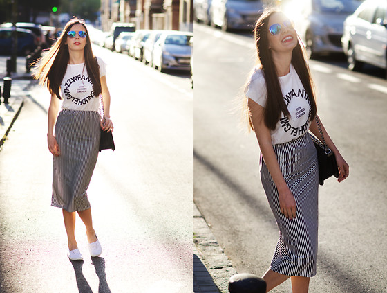 Mariya Marinova - Choies Dress, H&M Sneakers, H&M Sunglasses - The stripped dress.