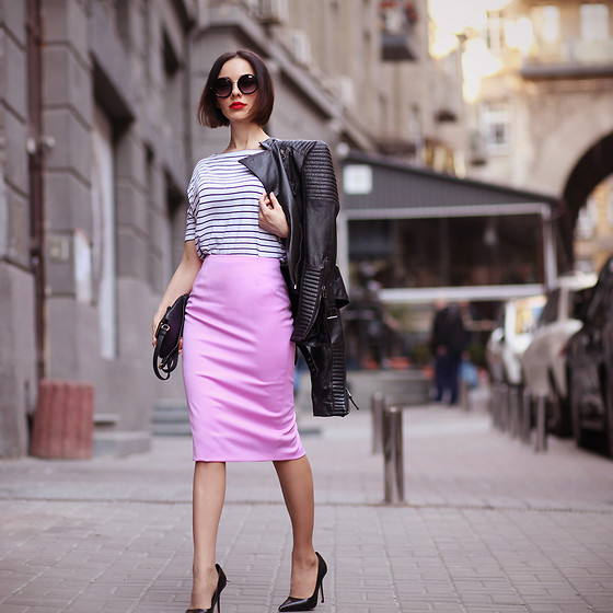 Sonya Karamazova - Zara Jacket, Zara Shoes - PINK ROCK