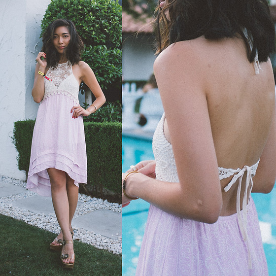 Stephanie Liu - Anna Sui Dress - Coachella Day 1