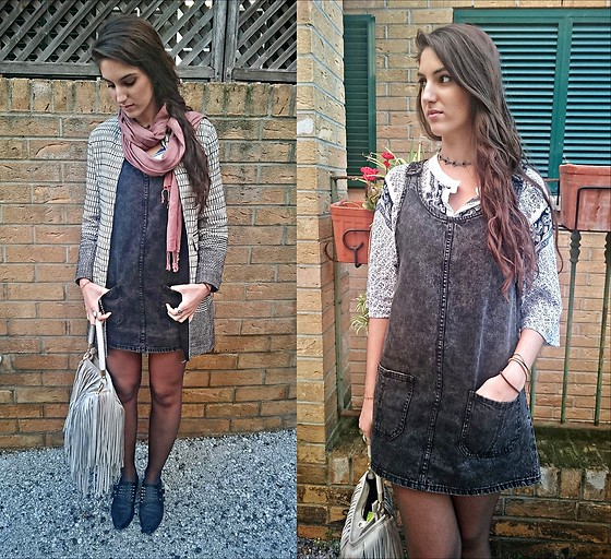 Julia - Zara Coat, Bershka Dress, H&M Bag, Asos Shoes, Choies Top, Topshop Choker - SLIGHTLY SEVENTIES
