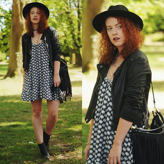 Deliah Alexandra - H&M Dress, Zara Leather Jacket, H&M Bag - I'm the dark in need of light