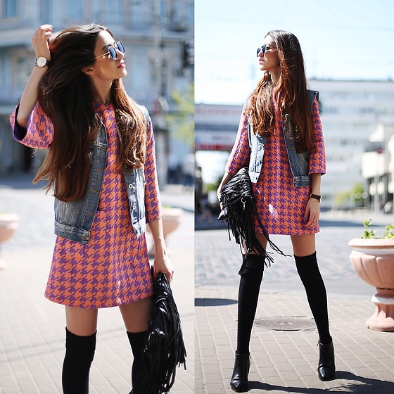Tina Sizonova - Choies Boots, Daniel Wellington Watch - Trendy 60s
