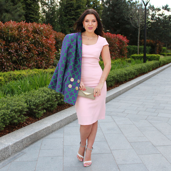 Yuiya @ Yukova Blog - Hybrid Dress, Asos Sandals, Aurora Living Wallet, Yukova Design Jacket - Cherry Blossom