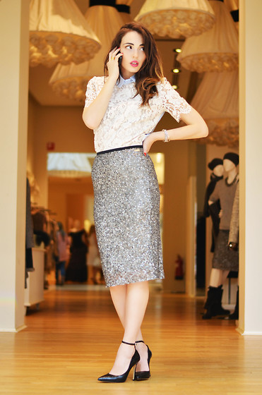 Melissa Cabrini - Twin Set Skirt, Twin Set Shirt - CALL ME!