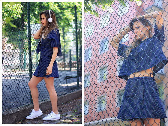 IVANA J. - Reebok Sneakers - Two pieces in Pinstripe print