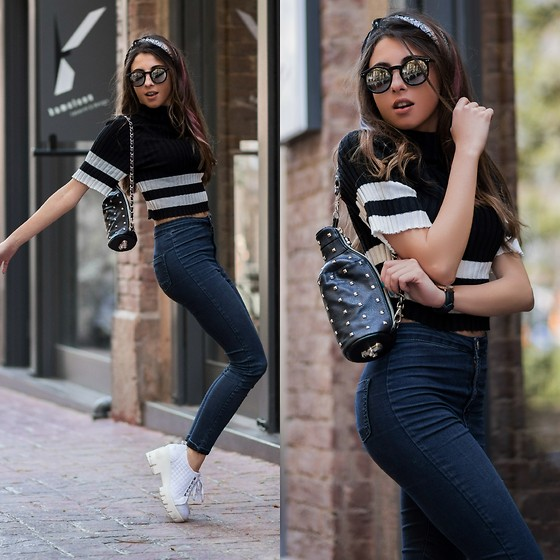Cansın Ekşi - Style Moi Crop Top, Topshop Jeans, Designer Absolut Bag - Season of Shopping