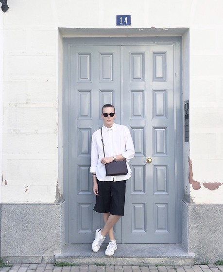 Martijn Maagdenberg - Céline Sunglasses, Saint Laurent Shirt, Céline Bag, Acne Studios Shorts, Adidas Sneakers - Untitled #25