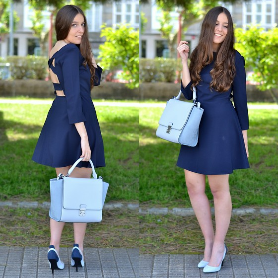 Yudani Pousada - Aliexpress Backless Dress, Zara Outfits Baby Blue Bag, Zara Combinar Zapatos Azul Bebé - Total blue