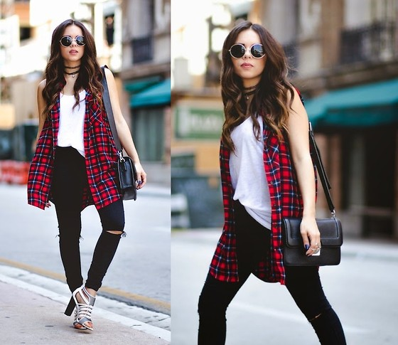 Daniela Ramirez - Asos Jeans, Forever 21 Top, Marc By Jacobs Bag - Plaid for Brunch