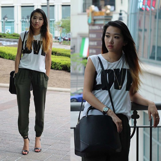 Jeannie Y - Talula Trousers, Steven Madden Heels, Auxiliary Bag, Marc By Jacobs Watch - Something call love