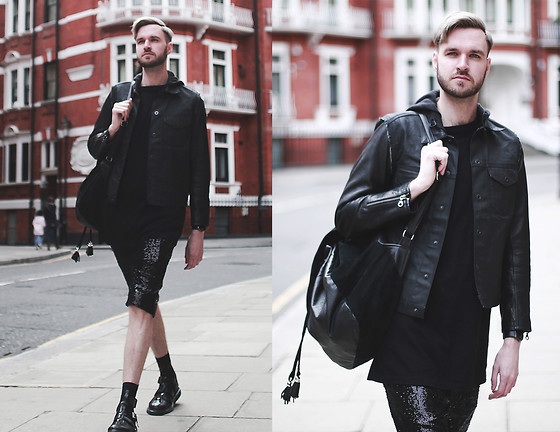 Geraint Donovan-Bowen - Gap Jacket, Ttya Tee, Rokit Backpack, Topshop Shorts, H&M Socks, Dr. Martens Sandals - His Name Is Fab 1