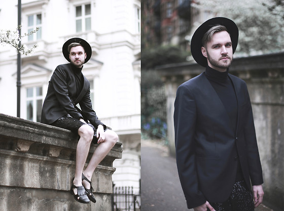 Geraint Donovan-Bowen - Topman Fedora, Zara Blazer, H&M Roll Neck, Topshop Shorts, Topman Shoes - His Name Is Fab 2