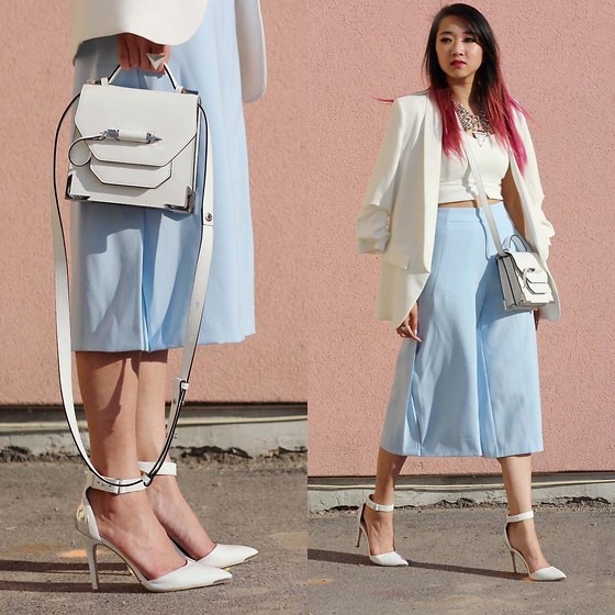 Jeannie Y - Mackage Crossbody, Zara Blazer, Zara Cropped Pants, Heels - It's Just Business
