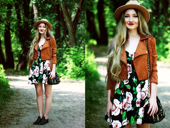♡Anita Kurkach♡ - Walktrendy Jacket, Choies Hat, Sheinside Bag, Asos Dress, Asos Shoes - CRUISR - Go For It