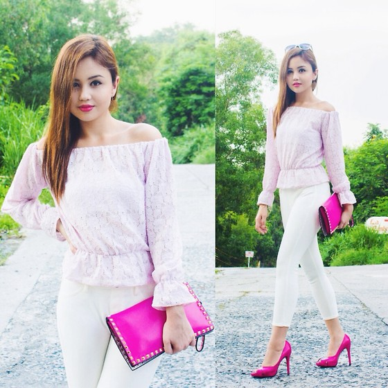 Nicole Aguinaldo - Verano Top, Uniqlo Jeans, Valentino Clutch, Steve Madden Heels - Paint The Town Pink