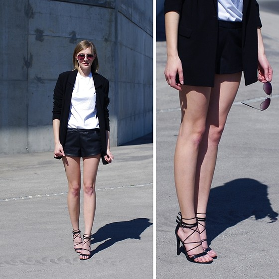 Katarina Vidd - All Brands On My Blog - Leather shorts.