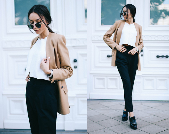 Bea G - Blazer, Crop Top, Pants, Shoes - Structured