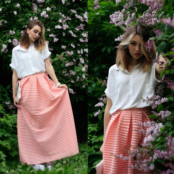 Septembrenell Rain - Chic Wish Skirt, Chic Wish Shirt - Chicwish
