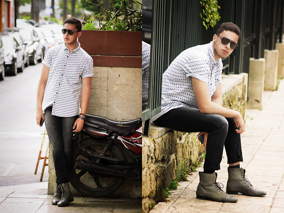 Spoke STYLE - River Island Shirt, Calvin Klein Jeans, Zara Boots - THE CITY LIFE