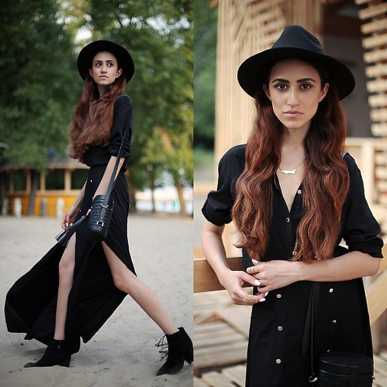 Tina Sizonova - Zara Boots, Love Republic Dress, Asos Hat - Desert