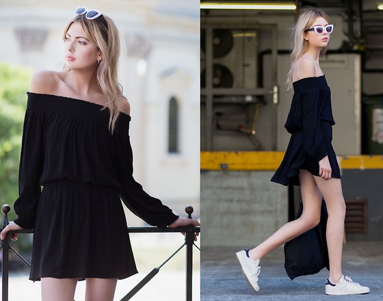 Ebba Zingmark - Make Way Dress, Adidas Sneakers, Urban Outfitters Sunnies - SINGOALLA