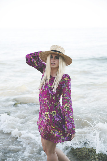 Inês M - Pretty Attitude Dress, H&M Hat - Channeling Bardot