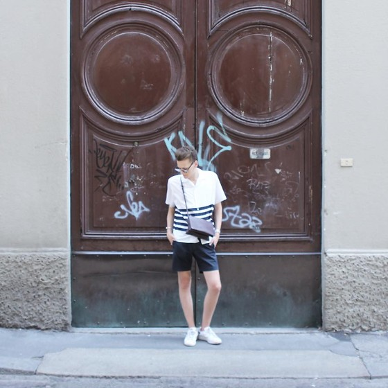 Martijn Maagdenberg - Acne Studios Shirt, Céline Bag, Marc By Jacobs Shorts, Adidas Sneakers, Christian Dior Sunglasses, Miansai Bracelet, Cartier Watch - Untitled #26