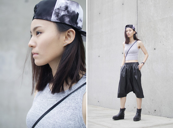 Kay Lai - Stampd Hat, Wilfred Free Tank, Izzue Pants, &Otherstories Ankle Boots - Cloudy
