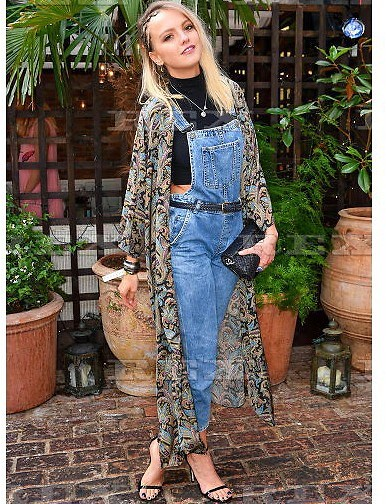 Laura Hayden - Oh My London Kimono, Topshop Overall, Chanel Bag, Schuh Shoes - JULY
