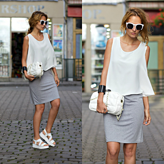 Ruxandra Ioana - Chic Wish Dress, Born Pretty Store Sunglasses - So basic