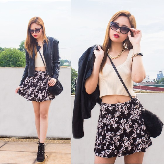 Nicole Aguinaldo - Forever 21 Top, Forever 21 Skirt, Forever 21 Boots, Forever 21 Jacket, Eye Know Right Sunnies, Dressin Bag - Come Rain or Shine